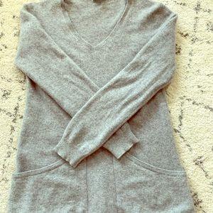 100% Cashmere Grey Sweater Garnet Hill